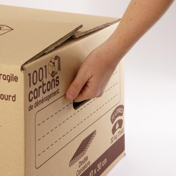 carton double cannelure 72 litres. Black Bedroom Furniture Sets. Home Design Ideas