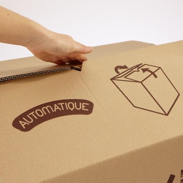 carton simple cannelure 54 litres. Black Bedroom Furniture Sets. Home Design Ideas