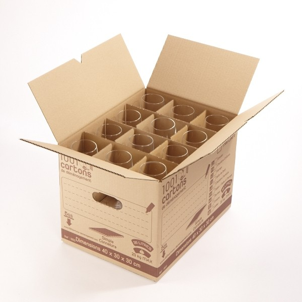 carton 36 litres range verres. Black Bedroom Furniture Sets. Home Design Ideas