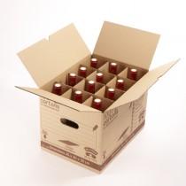 Carton 36 litres range bouteilles