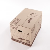 Carton simple cannelure 96 litres