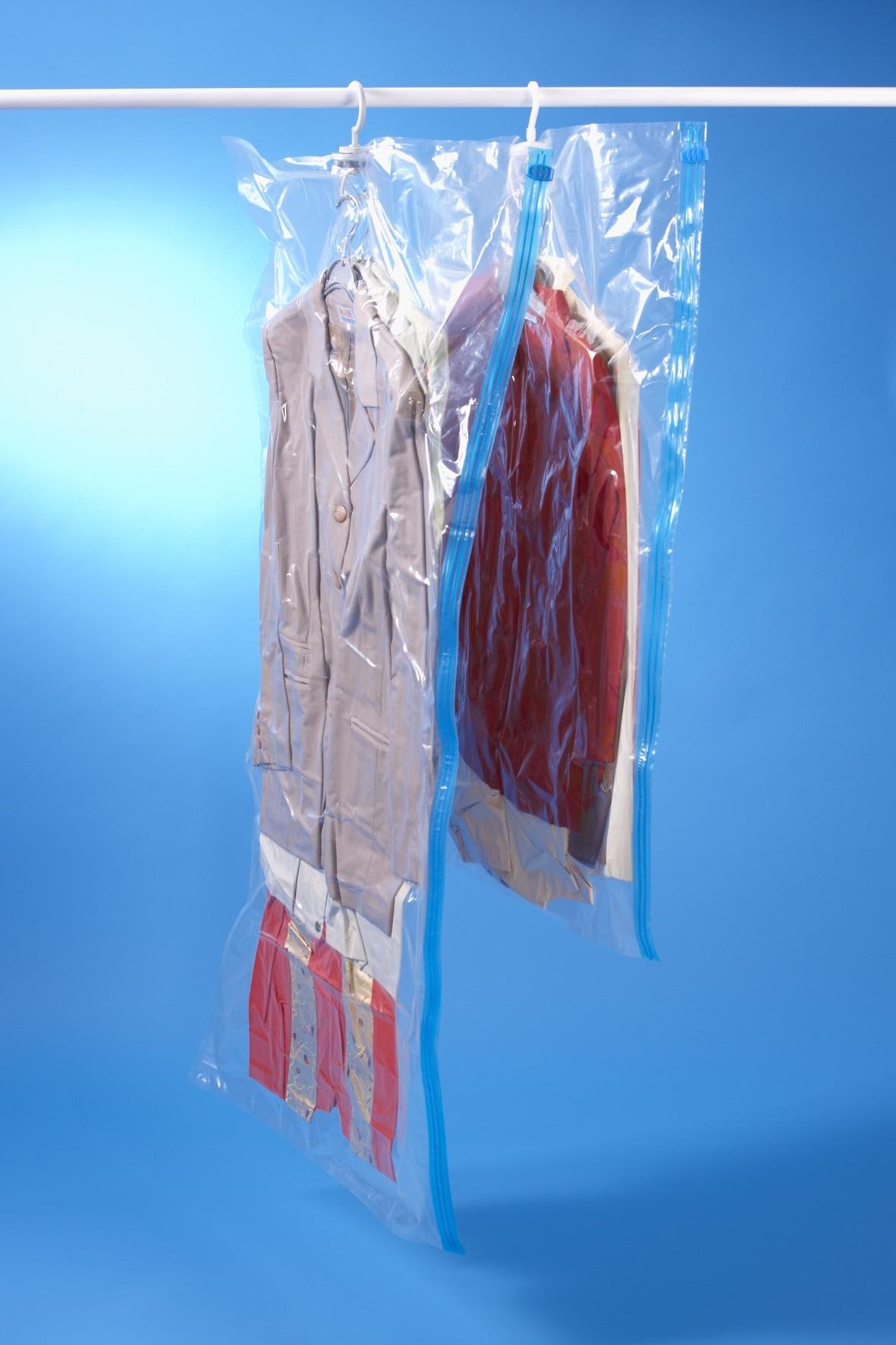 Housse de rangement sous vide cintre 70 x H. 105 cm