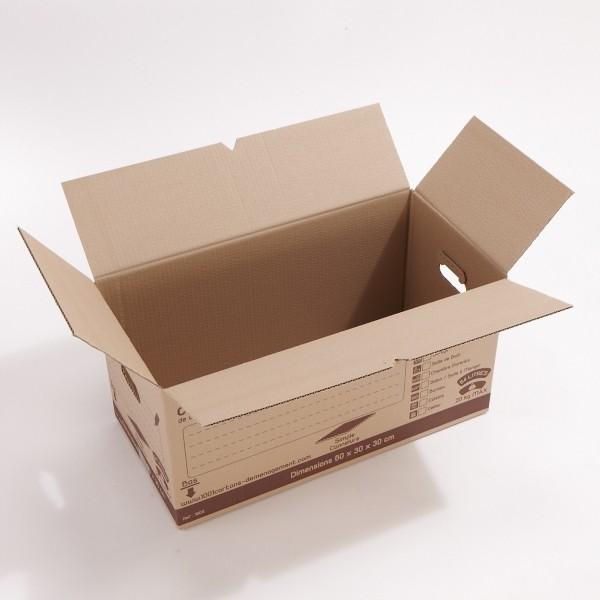 Carton simple cannelure 54 litres