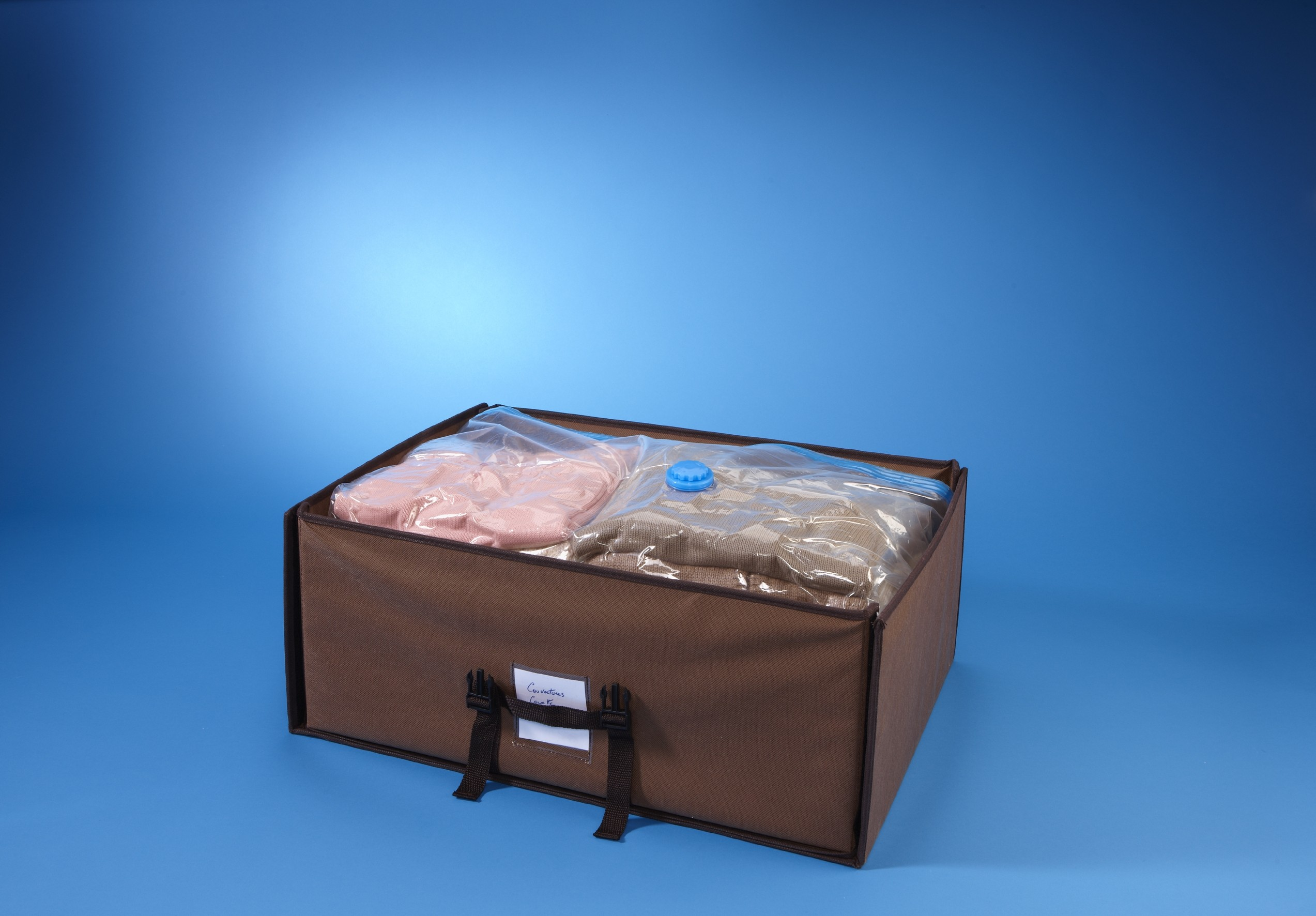 Housse de rangement sous vide valise 50 x 65 x 15cm + housse 70x105x32cm